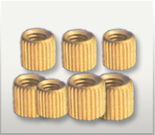 Straight Knurled Molding Inserts Brass                        Straight Knurled Molding Inserts
